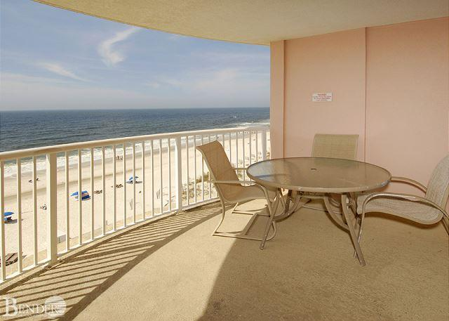 Balcony - Royal Palms 705 ~ Beachfront Condo with Indoor Pool ~ Bender Vacation Rentals - Gulf Shores - rentals