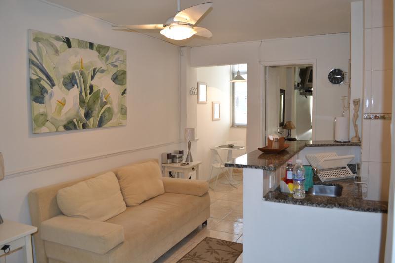 Living Area - Nice, Modern 1 Bedroom Apartment in Copacabana - Rio de Janeiro - rentals