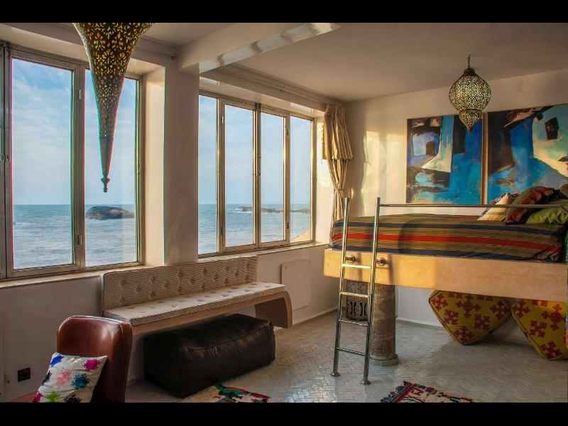 3rd Level Ocean Suite/Ocean View/Elevated Bed/Ensuite Bath/Fireplace - Dar Evening Star on the sea - Essaouira - rentals