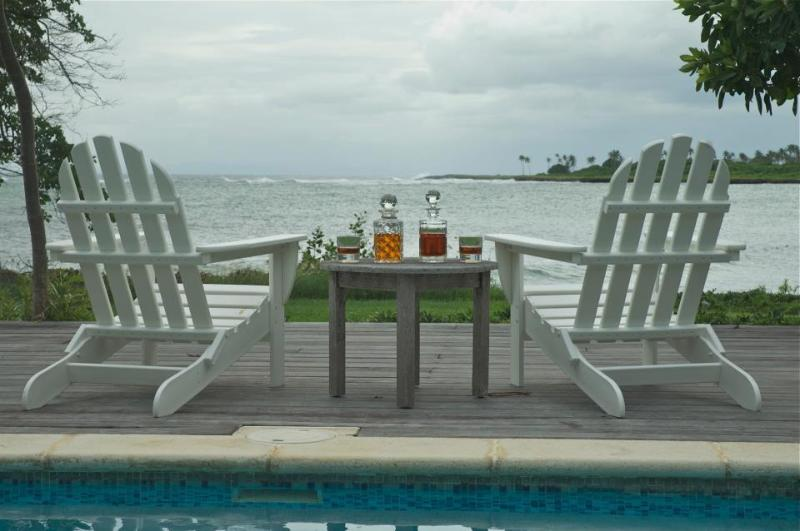 The view from the pool - 2 Bedroom Bungalow on ocean with pool and internet - Carnbee - rentals