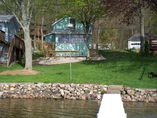 View from the lake - Lake Front Cottage - Angola - rentals