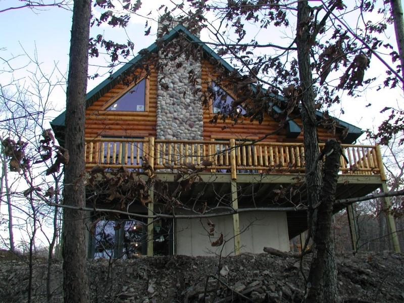 Rear of Cabin - The Log Cabin, on 10 Wooded Acres, Near Launch - Huntingdon - rentals