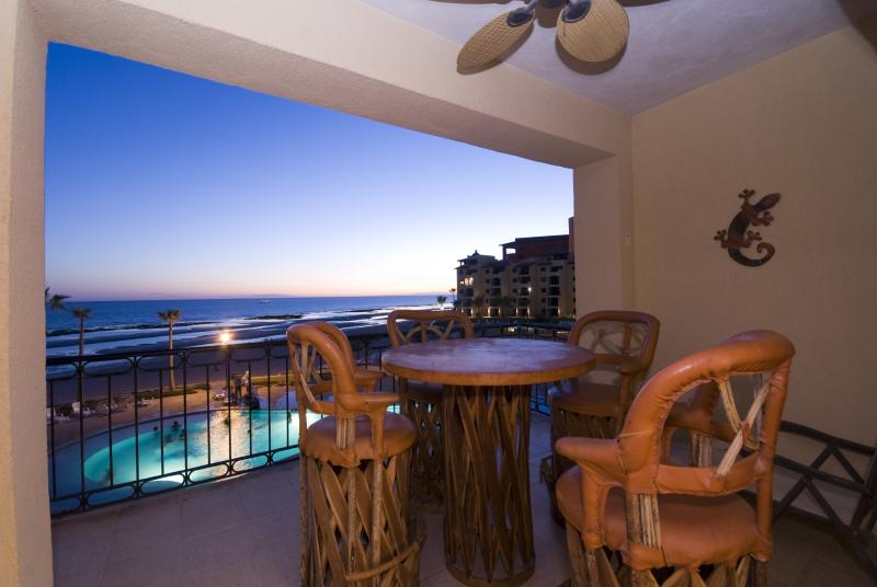 Patio view to Pool and SEA - 1 BDR BEACHFRONT WITH VIEW VIEWS, SLEEPS 2 - Rocky Point - rentals