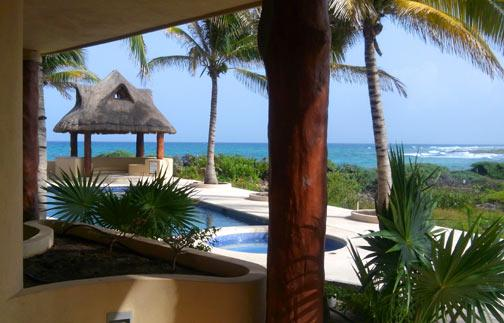 View from Terrace breakfast table - Great Ocean View, pool level luxury condo #401 - Majahual - rentals
