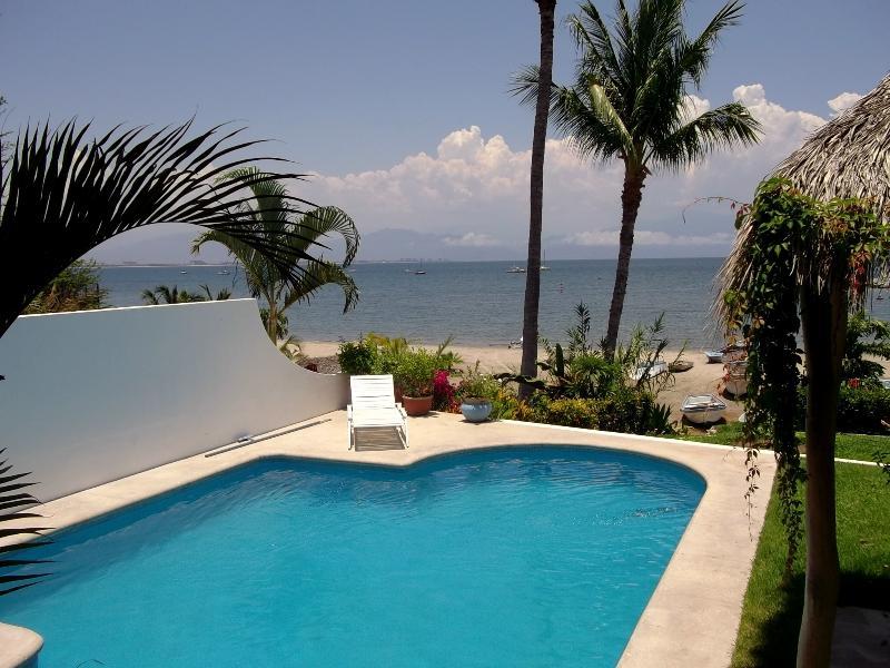 Beach Front Vacation Home Private Pool - Image 1 - La Cruz de Huanacaxtle - rentals