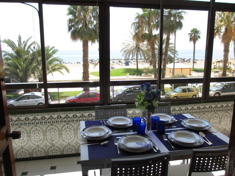 Terrace front the beach - Beachfront Malagueta, 4 bedroom,WIFI,terrace, A/A. - Malaga - rentals