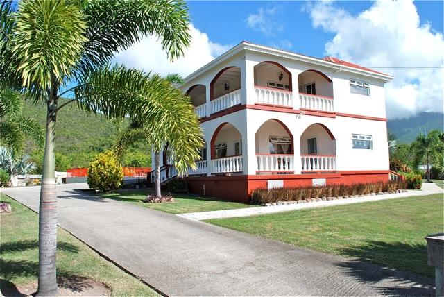 External views of the ground floor and first floor vernandahs - Crimson House  - A Dream Villa in Nevis - Newcastle - rentals