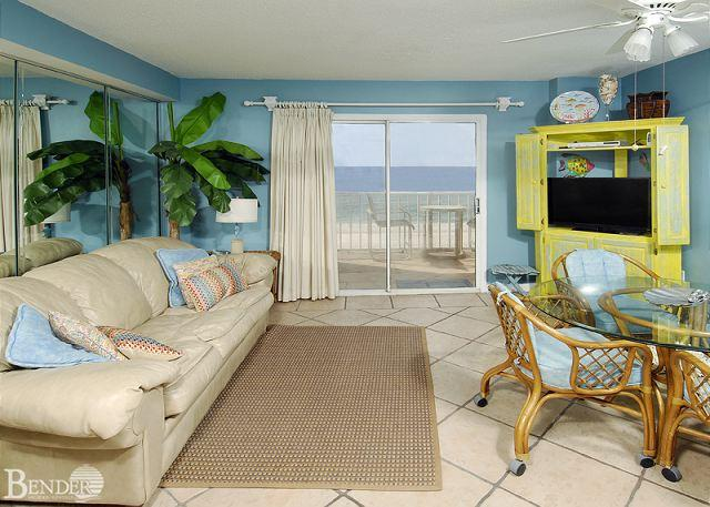 Living Room - Seacrest 604 ~ Perfect Gulf Front Great Views ~ Bender Vacation Rentals - Gulf Shores - rentals