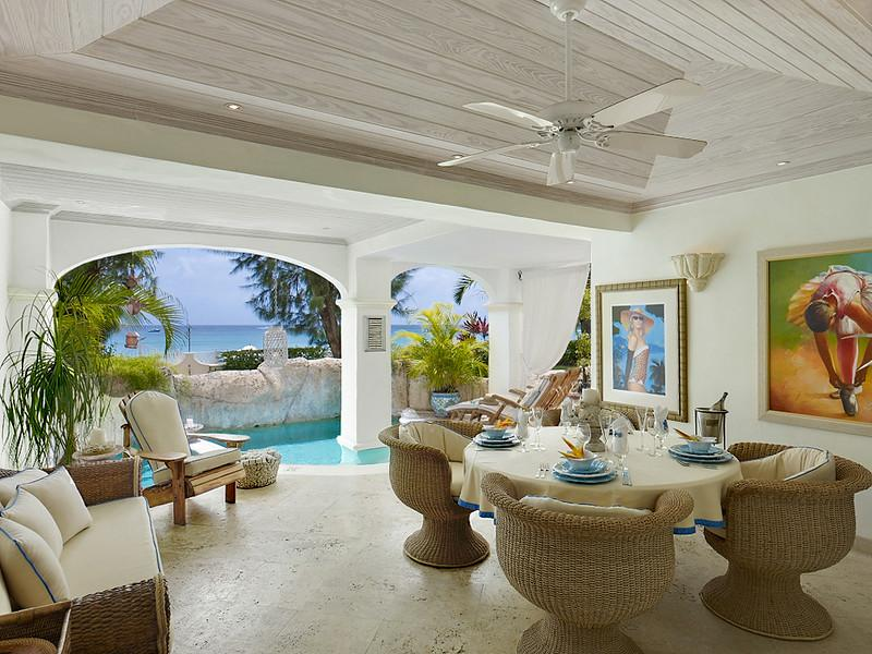 Azzurro, Old Trees at Payne's , Barbados - Beachfront, Ocean View,  Pool And Private Plunge Pool - Image 1 - Paynes Bay - rentals