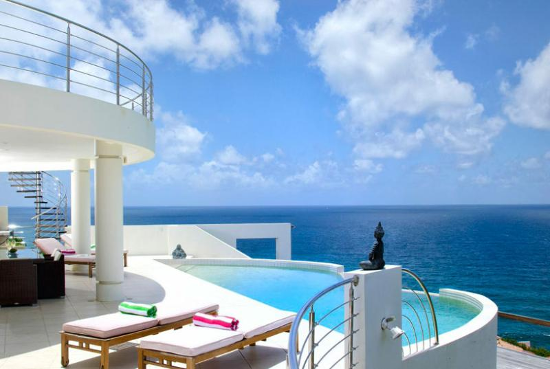 SPECIAL OFFER: St. Martin Villa 177 Luxurious Ocean View Villa Where You Will See All The Hues Of The Blue Sky And Ocean. - Image 1 - Dawn Beach - rentals