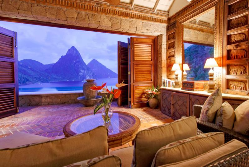 St Lucia Villa 2 This Cliffside Dwelling Is Located Within A Few Minutes Drive To The Pristine Anse Chastanet Beach. - Image 1 - Soufriere - rentals