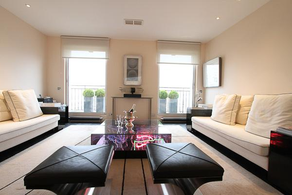 Living room - Le Pont Marie - Spacious for two, splendid views - Paris - rentals