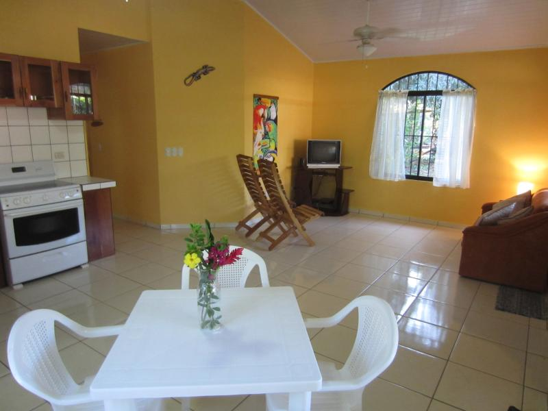 Dinette, Living Room - Beautiful NEW Spanish Style 3 Bedroom Bungalow - Paquera - rentals