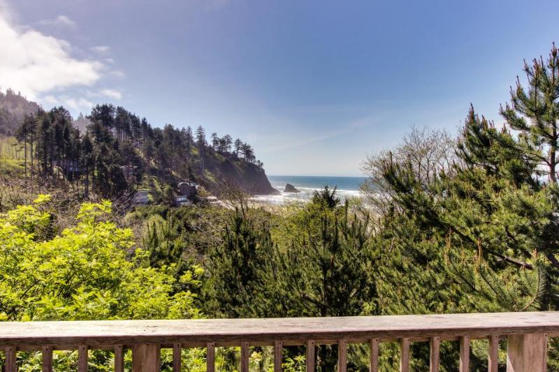 Ocean view home w/ two decks, beach access, & cozy fireplace - Image 1 - Neskowin - rentals