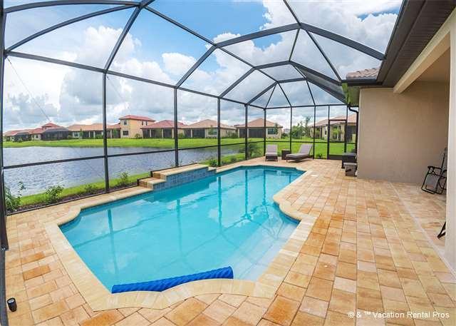 Swim year-round in the private heated pool - Golden Sunrise House - Brand new 3 bedroom, pool - Nokomis - rentals