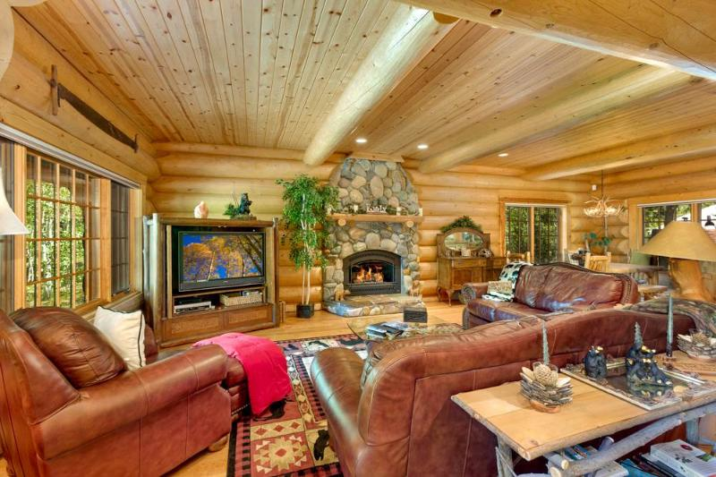 Grandiose Log Cabin Style Home, in Gated Community and Walking Distance to Lake Tahoe (ST60) - Image 1 - South Lake Tahoe - rentals
