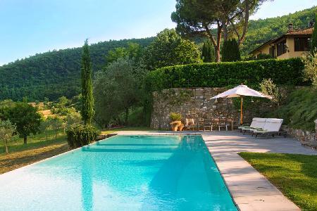 Villa dei Giardini with 3 terraces, countryside views, pristine gardens & pool - Image 1 - Florence - rentals