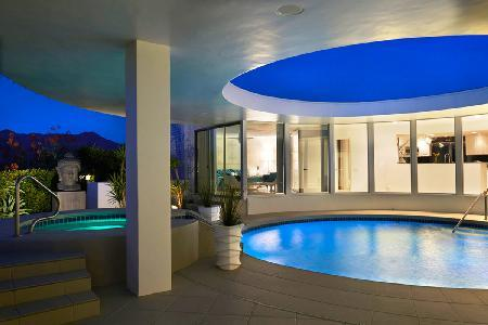 Skyfall is a villa worthy of the Big Screen with its circular design, pool patio & cool 60's vibe - Image 1 - Palm Springs - rentals