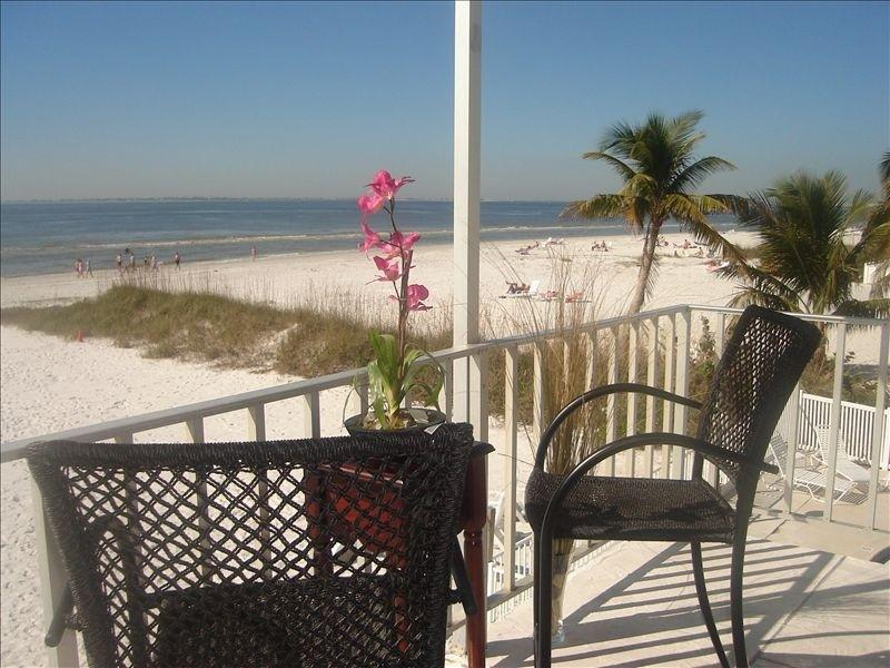 VIEW FROM BALCONY - Luxurious Condo Directly on Gulf Steps to Sand! - Fort Myers Beach - rentals