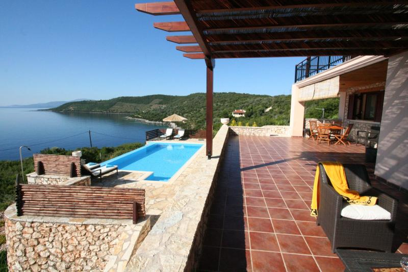 Rising Sun veranda - LUXURY seafront villa RISING SUN,6+2,private pool - Sivota - rentals