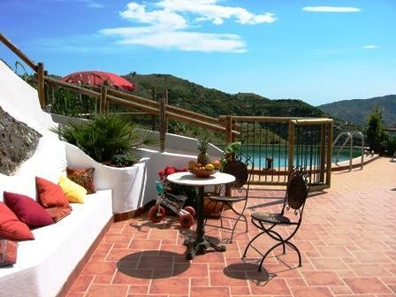 terrasse sud - Tropical valley Orchards, quiet, views, swim. pool - Jete - rentals