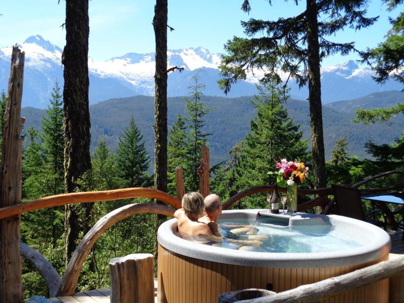 Hot tub, the view and your beloved. It doesn't get any better! - Cabin&Hot-tub Stunning Views Vancouver/Whistler BC - Brackendale - rentals