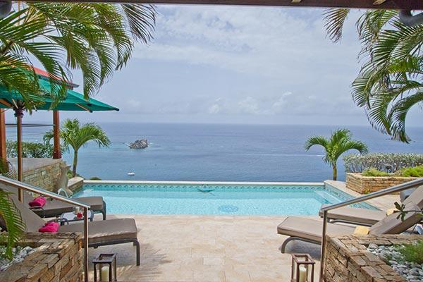 Private villa with incomparable ocean views & breathtaking sunsets WV KAN - Image 1 - Colombier - rentals
