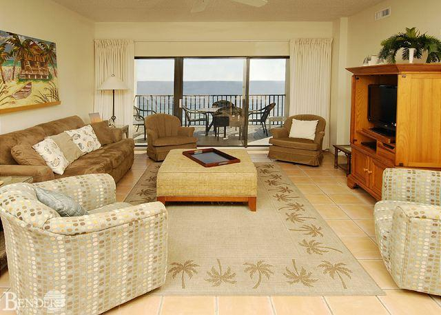 Living Room - Nicely Appointed Beachfront Condo ~ Bender Vacation Rentals - Orange Beach - rentals