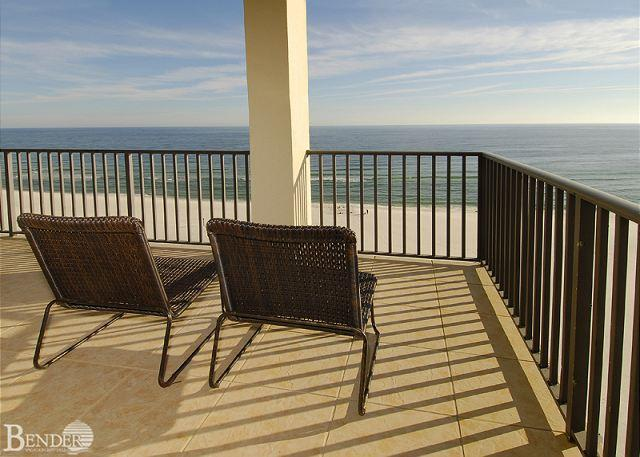 Balcony - The Palms 904 ~ West Corner Condo Views ~ Bender Vacation Rentals - Orange Beach - rentals