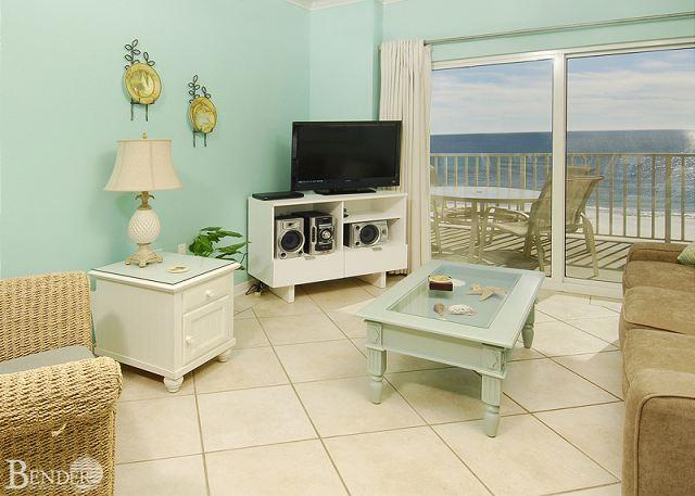 Living Room - Exquisite Beachfront Condo ~ Bender Vacation Rentals - Orange Beach - rentals