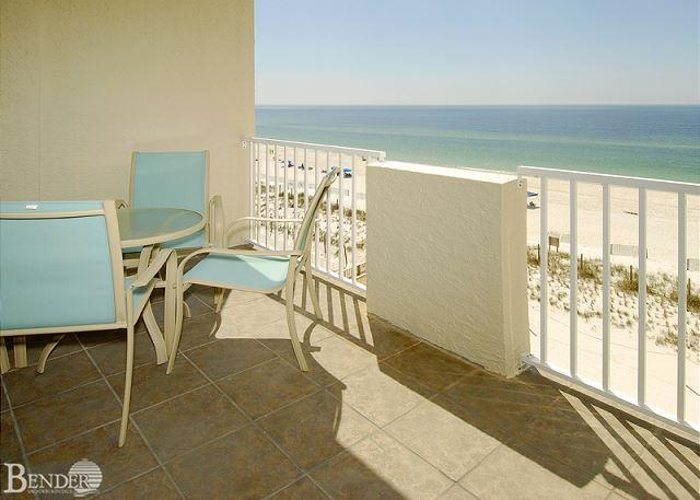 Balcony - Tropical Winds 503 ~ Relaxing Beachfront Condo ~ Bender Vacation Rentals - Gulf Shores - rentals