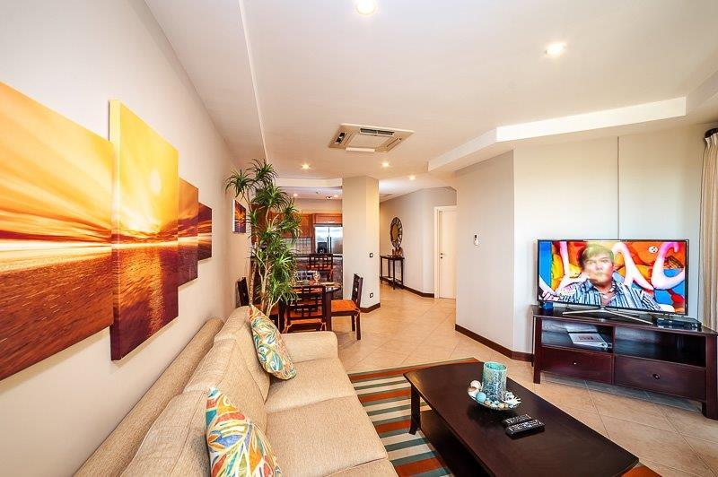 "Living room complete with 50"" Smart LED TV. - BEAUTIFUL OCEANVIEW IN LANGOSTA/TAMARINDO - Tamarindo - rentals"