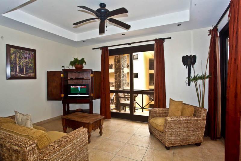 Main living area with flat screen TV - Bahia Encantada 3C 3rd Floor Beach View - Jaco - rentals
