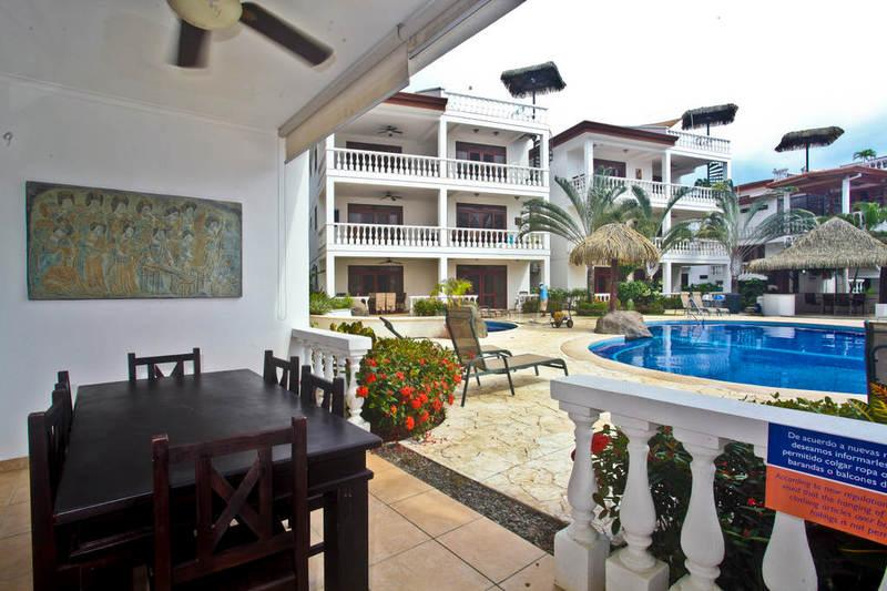 Private dining patio with pool view - Paloma Blanca 1C 1st Floor Pool View - Jaco - rentals