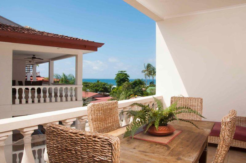 Outside balcony and dining area - Paloma Blanca 3F 3rd Floor Pool View - Jaco - rentals