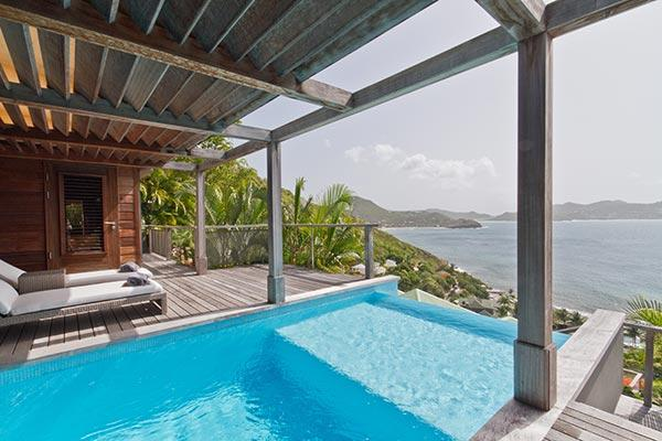 Lovely villa with great view of sparkling ocean & deserted islands	 WV BAY - Image 1 - Pointe Milou - rentals