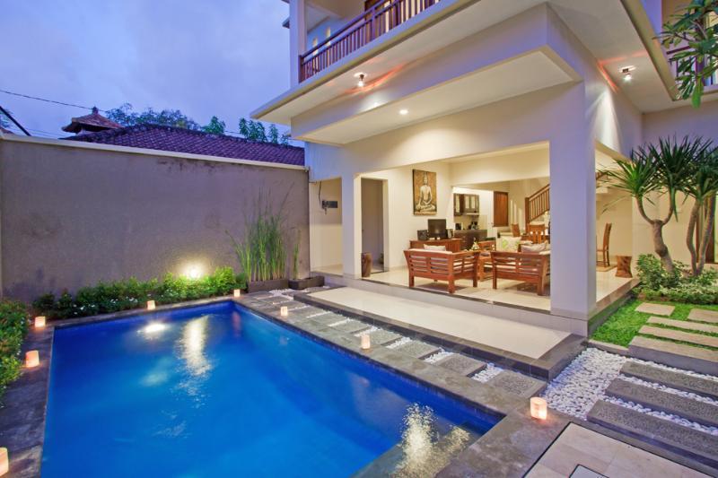 Pool and Villa Overview - Madhya1 3 Bedroom Villa, Sophisticated Seminyak-Nr Beach - Seminyak - rentals