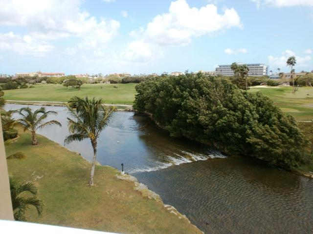 Your view from your private balcony! - Divi Golf View Studio condo - DR43 - Oranjestad - rentals