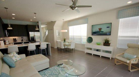 3 Bedroom 3 Bathroom New Townhome with South Facing Pool 17418PA - Image 1 - Orlando - rentals