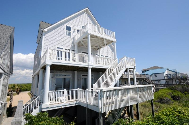 4368 Island Drive - Island Drive 4368 Oceanfront! | Internet, Community Pool, Hot Tub, Elevator, Jacuzzi, Fireplace - North Topsail Beach - rentals