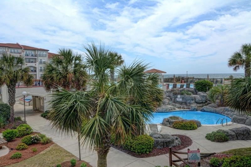 View from this unit - Villa Capriani 108-A Oceanfront! | 3 pools, Largest Pool on NC Coast, 2 Hot - North Topsail Beach - rentals