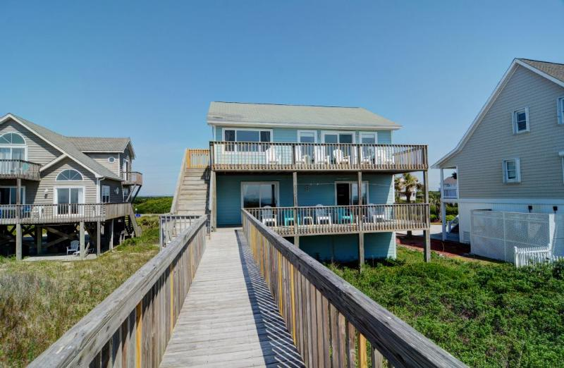View of House From Beach - Island Drive 3512 Oceanfront! | Internet, Pet Friendly - North Topsail Beach - rentals