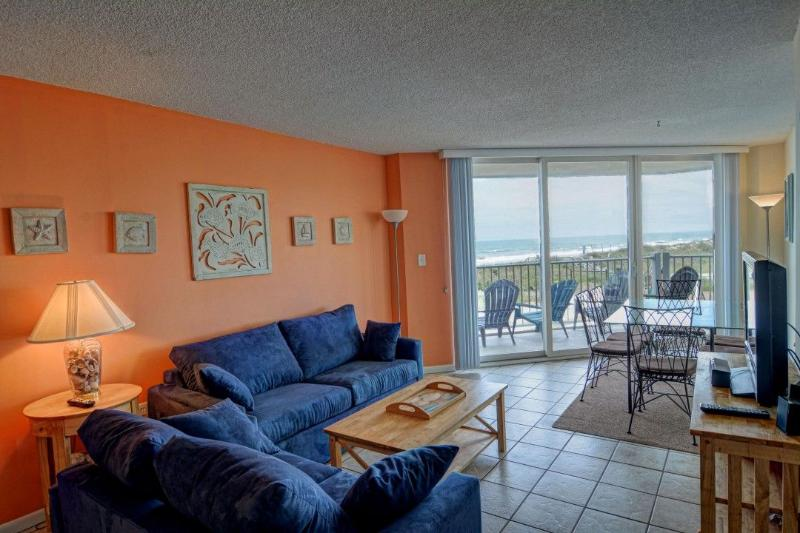 Living Room - St. Regis 1106 Oceanfront! |  Indoor Pool, Outdoor Pool, Hot Tub, Tennis - North Topsail Beach - rentals