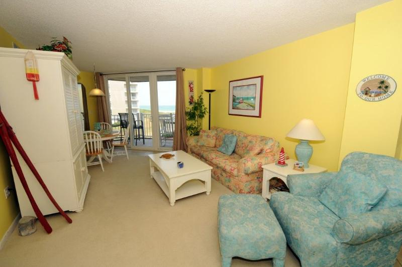Living Room - St. Regis 1111 Oceanfront! |  Indoor Pool, Outdoor Pool, Hot Tub, Tennis Courts, Playground Discounts Available- See Description!! - North Topsail Beach - rentals