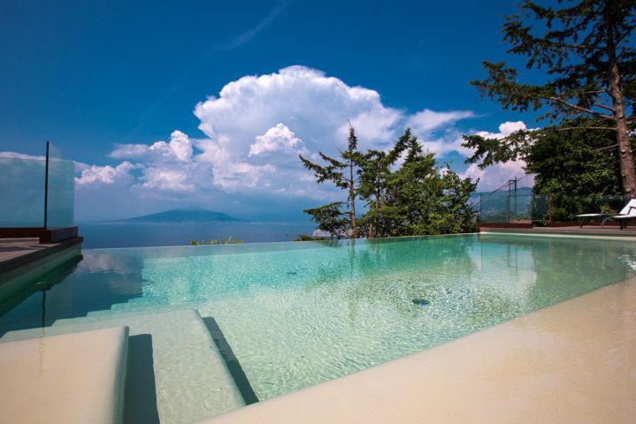 Private Infinity Pool with Sea & Vesuvius View - SEA-VIEW VILLA IN SORRENTO WITH PRIVATE POOL - Massa Lubrense - rentals