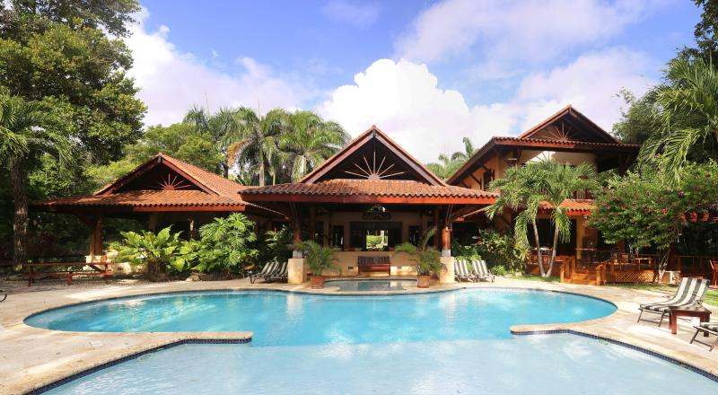 Main house, view from poolside - Sunrise Villa, Upscale, Casual, and Fun - Cabrera - rentals