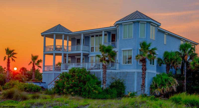 Rear Exterior - Huge, Elegant 6 Bedroom, Oceanfront w/Hot Tub! - Isle of Palms - rentals