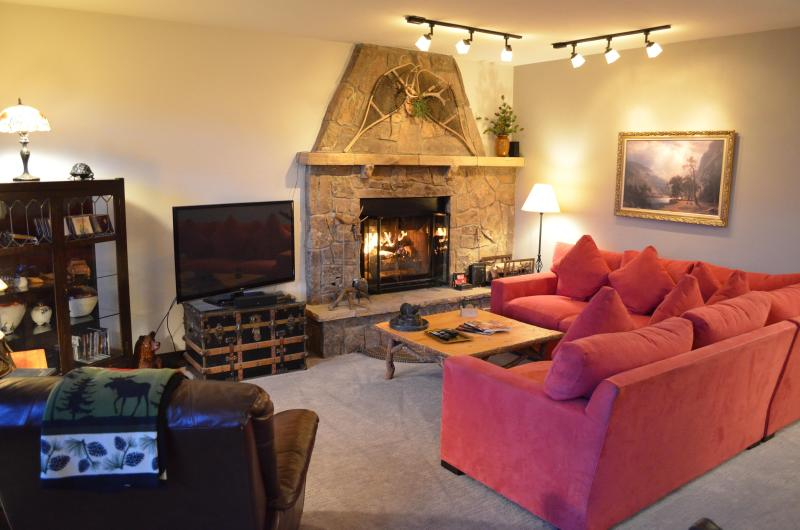 living room with wood burning fireplace - Sun Vail 13C - Mountain View 2 Bedroom, 2 Bath - Vail - rentals