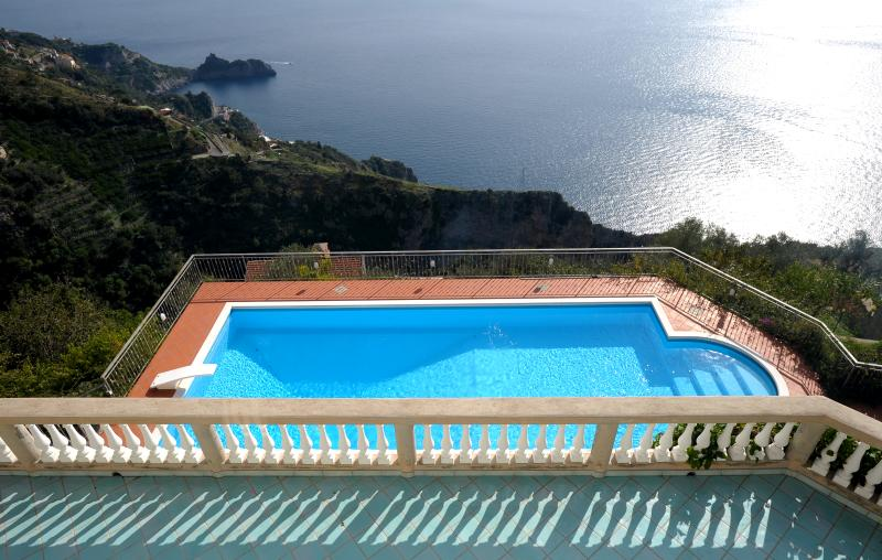 The gorgeous view over the pool and main terrace - Villa dei Signori - Gracious Home, ideal Amalfi Coast Location, Great Views - Amalfi - rentals