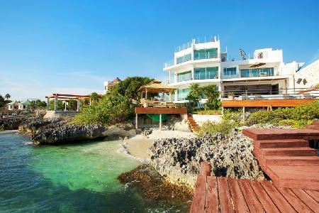 The ultimate beachfront luxury villa - Casa Delfines with pool & sweeping views - Image 1 - Isla Mujeres - rentals
